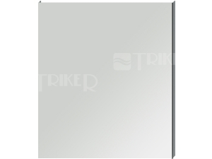 Clear zrcadlo na hliníkovém rámu bez osvětlení 70 x 81 cm