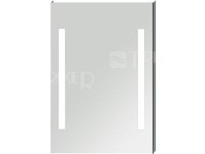 Clear zrcadlo na hliníkovém rámu s integrovaným LED osvětlením 55 x 81 cm