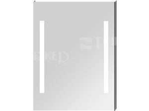 Clear zrcadlo na hliníkovém rámu s integrovnaým LED osvětlením 60 x 81 cm