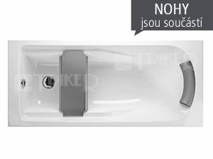 Comfort plus vana akrylátová 150 x 75 cm, bílá (včetně nohou)