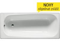 Contesa vana ocelová s profilovaným okrajem 120 x 70 x 41,5 cm, bílá, A212106001, Roca