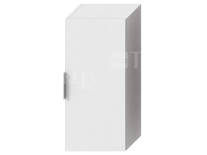 Cube skříňka střední 34,5 x 75 x 25 cm bílá, úchytky antracit