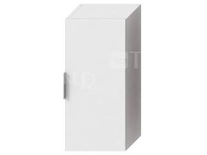 Cube skříňka střední bílá, úchytky chrom, úchytky chrom