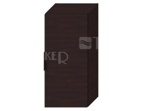 Cube skříňka střední tmavý dub, úchytky chrom