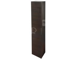 Cube skříňka vysoká 32 x 170 x 25,1 cm tmavý dub, úchytka chrom
