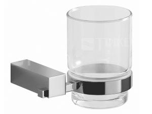 Cubito držák se skleněným pohárem chrom