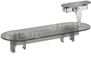 Cubito-N polička pro sprchovou nástěnnou baterii, šedý plast