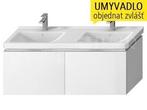 Cubito-N skříňka pod umyvadlo 130 cm 2 zásuvka, bílá