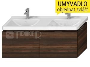 Cubito-N skříňka pod umyvadlo 130 cm 2 zásuvka, tmavá borovice