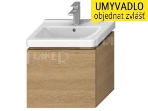 Cubito-N skříňka pod umyvadlo 55 cm 1 zásuvka, dub