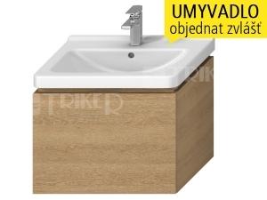 Cubito-N skříňka pod umyvadlo 65 cm 1 zásuvka, dub