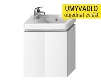 Cubito-N skříňka pod umyvadlo asymetrické 45 cm 2 dveře, bílá, H40J4202005001, Jika