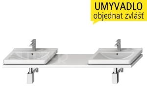 Cubito-N umyvadlová deska s 2 otvory 135 - 220 cm, bílá
