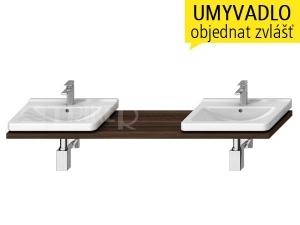 Cubito-N umyvadlová deska s 2 otvory 135 - 220 cm, borovice