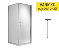 Cubito pure pevná stěna 80 cm (780-795mm) profil:stříbro, výplň:transparent, H2972410026681, Jika