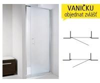 Cubito pure sprchové dveře jednokřídlé 90 cm (865-895mm), profil:stříbro, výplň:transparent, H2542420026681, Jika
