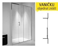 Cubito pure sprchové dveře posuvné 120 cm (1165-1195mm)profil:stříbro, výplň:Arctic, H2422440026661, Jika
