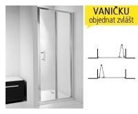 Cubito pure sprchové dveře skládací 90 cm (865-895mm) profil:stříbro, výplň:arctic, H2552420026661, Jika