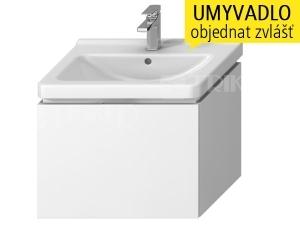 Cubito skříňka s 1 zásuvkou pod umyvadlo 65 x 48,5 cm, bílá
