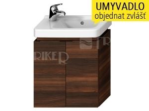 Cubito skříňka se 2 dveřmi pod umývátko 45 x 25 cm, tmavá borovice