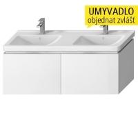 Cubito skříňka se 2 zásuvkami pod dvojumyvadlo 130 x 48,5 cm, bílá, H40J4274015001, Jika
