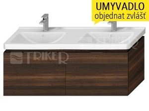 Cubito skříňka se 2 zásuvkami pod dvojumyvadlo 130 x 48,5 cm, tmavá borovice