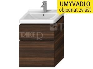 Cubito skříňka se 2 zásuvkami pod umyvadlo 55 x 42 cm, tmavá borovice