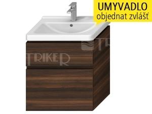 Cubito skříňka se 2 zásuvkami pod umyvadlo 65 x 48,5 cm, tmavá borovice