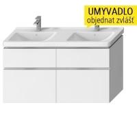 Cubito skříňka se 4 zásuvkami pod dvojumyvadlo 130 x 48,5 cm, bílá, H40J4274025001, Jika
