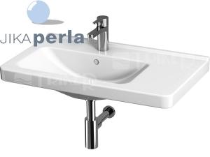 Cubito umyvadlo asymetrické 75 x 45 cm pravé, sotvorem pro baterii, bílé/PERLA