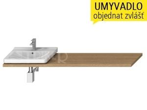 Cubito umyvadlová deska s otvorem 65 - 160 cm, dub