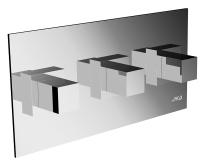 Cubito vanová baterie podomítková chrom, H3204260040001, Jika