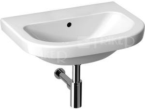 Deep umyvadlo 55 x 42cm bez otvoru bílé