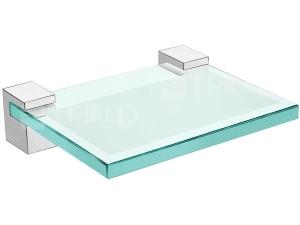 Design držák se skleněnou mýdlenkou chrom
