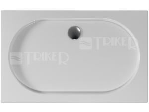 Diova vanička akrylátová 120 x 75 x 3,5 cm hladká, bílá