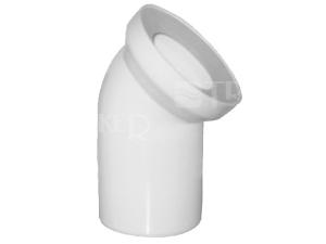 Dopojení k WC - koleno 22° 110 mm, bílé