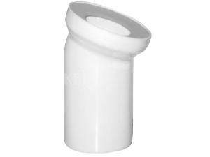 Dopojení k WC - koleno 45° 110 mm bílé