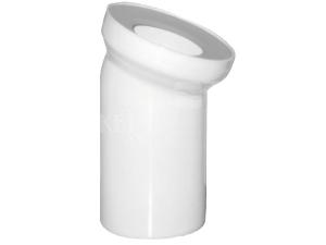 Dopojení k WC - koleno 45° 110mm bílé
