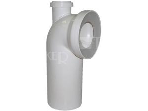 Dopojení k WC - koleno 90° s připojením 110/50 mm, bílé