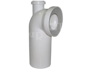 Dopojení k WC - koleno 90° s připojením 110/50mm, bílé