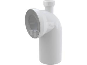Dopojení k WC - koleno 90° s přípojkou Alcaplast A90-90P40 110mm bílé