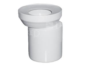 Dopojení WC - excentrické 110/155mm vyosení 15mm, bílé