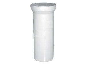 Dopojení WC - přímý kus 110/150 mm, bílé