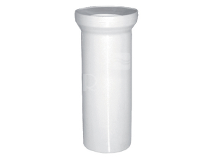 Dopojení WC - přímý kus 110/250 mm, bílé