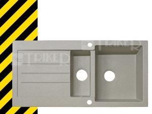 Doprodej Dřez Tellur 100 x 500 mm, pískový