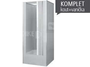 Dora průmyslový box 90 x 90 cm s dveřmi