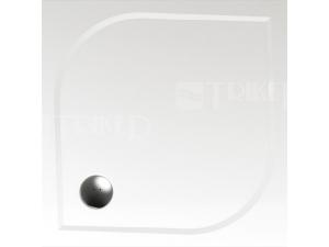 Draco vanička z litého mramoru čtvercová 90 x 90 x 3 cm, bílá