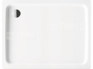 Duschplan vanička ocelová 3,5 mm 75 x 100 x 6,5 cm 416-1, bílá