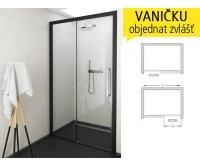ECD2 sprchové dveře ECD2L/1300 (1265-1315mm), výška 2050mm, profil:brillant, výplň:transparent, 564-130000L-00-02, Roltechnik