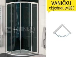 ECOR Sprchové dveře čtvrtkruhové